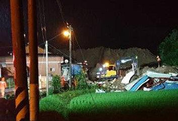 곡성 산사태로 주택 4채 매몰3명 숨져…2명 실종