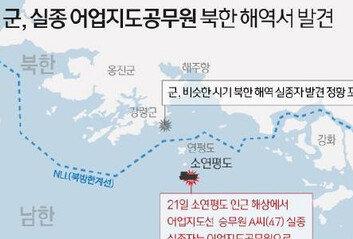 """北, 실종자 월북 의사 청취 후 총격""""방호복 입고 시신 불태워"""""""