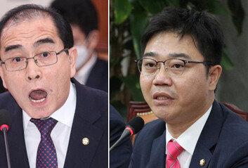 """北출신 태영호·지성호 """"정부,북한 눈치만 보며 굴종적"""" 맹비난"""