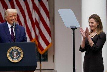 트럼프, 새 연방대법관에 '보수 성향' 코니 배럿 지명 강행