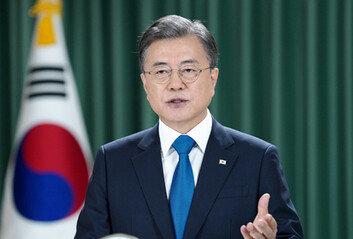"""文대통령 """"조속한 남북 공동조사, 군통신선 복구·재가동 요청"""""""