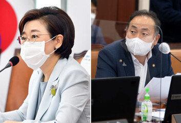 """""""박원순, 침실서 신체적 접촉"""" vs """"사자명예훼손"""" …여야, 국감서 충돌"""