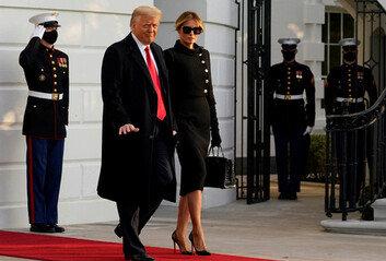 """트럼프 백악관 떠났다""""새 행정부, 큰 성공할 것"""""""