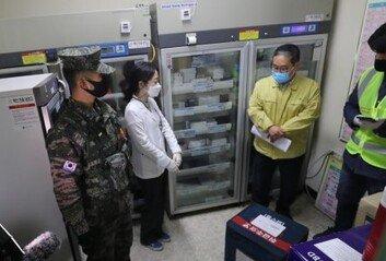 """제주 가던 AZ백신 온도일탈 확인""""폐기 여부, 추후 발표"""""""