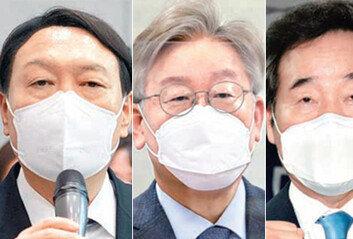 1년 앞으로 다가온 대선尹·이재명·이낙연 3파전에 예측불허
