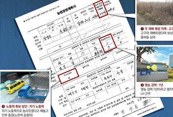 '직접 농사' 신고 LH 직원'인부 동원' CCTV 찍혔다