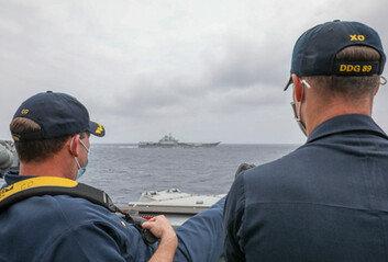美中 항모 남중국해에 다 모였다동시출격 이례적, 긴장고조