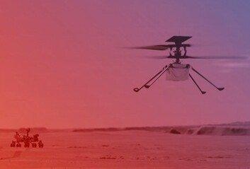 인류 헬기, 화성 하늘 날았다 지구밖 행성서 첫 동력비행 성공