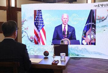 """바이든 """"美 온실가스 배출 2030년까지 절반으로 감축"""""""