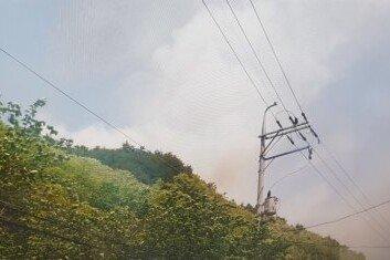 강풍·건조 특보 내려진 삼척에 산불 주민·등산객 대피