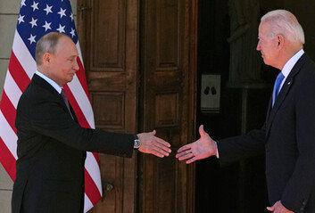 푸틴, 제네바 도착바이든과의 첫 미러 정상회담 개시