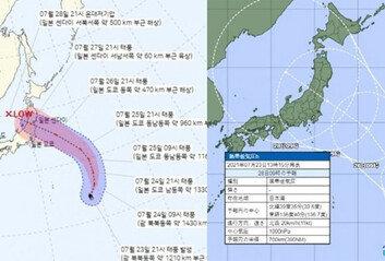날씨도 안 도와주는 올림픽도쿄, 27~28일 태풍 관통 가능성