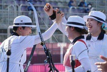 상대팀도 수준 차이 인정 한국 궁사들의 훈련 비결은