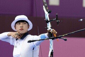 안산, 개인전 금메달 사상 첫 올림픽 양궁 3관왕