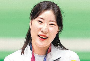"""김민정, 턱걸이로 올라가 銀명중 전날 아빠에 """"자신 있어"""" 카톡"""