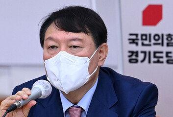 """尹 """"이재명 집권땐 대통령 배경 믿고 조폭 설치는 세상 올 것"""""""