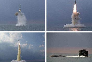 """北 """"신형 SLBM 잠수함서 발사"""" 확인"""