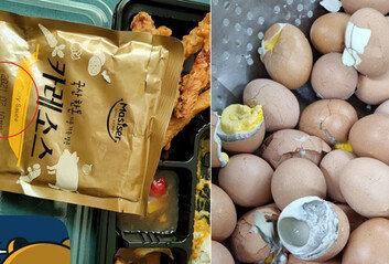 유통기한 석달 지난 카레·회색 달걀…軍 또 불량급식