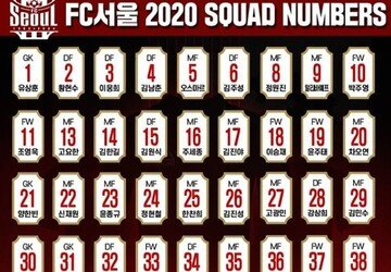 FC서울, ACL 플레이오프 앞두고 2020시즌 등번호 발표