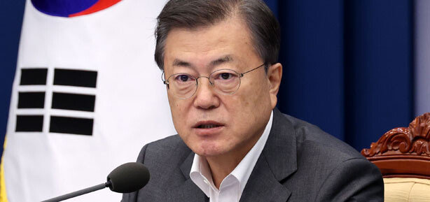 """文대통령 """"日 오염수 방류, 국제해양법재판소 제소 검토하라"""""""