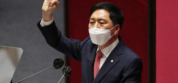 """김기현 """"文정부-與-586운동권, 꼰대-수구-기득권 됐다"""""""