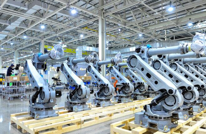 대구 소재 국내 최대 로봇업체인 현대로보틱스 공장 내부.