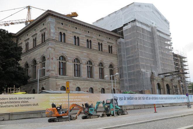 한창 공사 중인 스웨덴국립미술관. 2018년에 재개관한다.[사진제공·최성표]