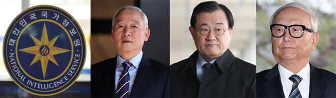 남재준·이병기·이병호  전 국정원장(왼쪽부터)