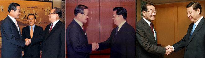 이세기 전 국토통일원 장관은 장쩌민, 후진타오, 시진핑(왼쪽부터) 등 중국 유력 인사들과 관시를 맺은 '중국통이 인정하는 중국통'이다.