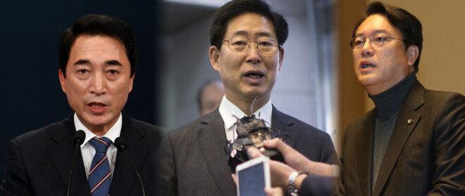 박수현 청와대 대변인, 양승조 더불어민주당 의원, 정진석 자유한국당 의원(왼쪽부터)[동아DB, 홍진환 동아일보 기자]
