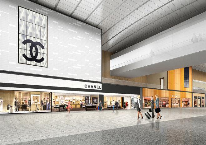 제2여객터미널 면세점 구역에는 샤넬 부티크를 중심으로 20여 개 명품 브랜드로 구성된 하이부티크 스트리트가 조성된다. [인천국제공항공사 제공]