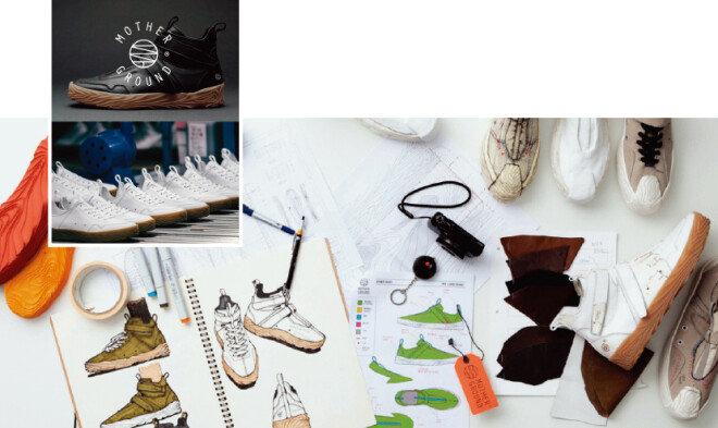 자연에서 영감을 얻은 디자인, 독특한 밑창, 상생을 표방한 유통구조 등 문제의식을 토대로 제작된 마더그라운드의 스니커즈는 후원자들의 지지로 브랜드 론칭에 성공했다.[마더그라운드 홈페이지]