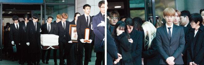12월 21일 고(故) 샤이니 종현의 발인식이 서울아산병원에서 엄수됐다. [지호영 기자]
