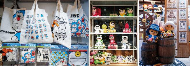 도라에몽과 원피스, 짱구 등 애니메이션 팬들이 좋아하는 캐릭터 상품을 판매하는 '애니랜드'. [홍중식 기자]