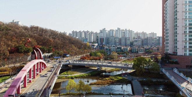 경기 용인시 수지구 시내 전경. [김도균]