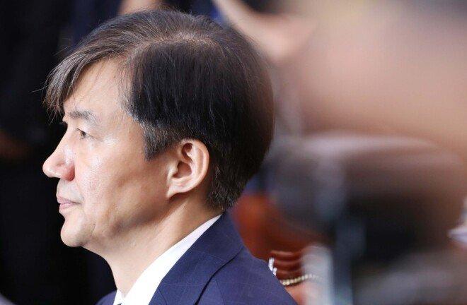 9월 6일 조국 법무부 장관 후보자가 서울 여의도 국회에서 열린 법제사법위원회 인사청문회에 참석해 의원질의를 듣고 있다. [뉴시스]