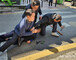 오세훈, 유세중 습격 당할뻔…흉기 들고 접근 50대男, 경찰이 제압