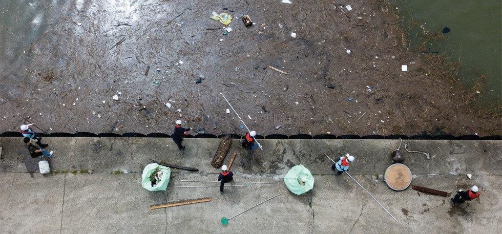 바다 쓰레기와의 전쟁 해양환경공단 청항선 탑승기