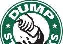 경찰관 쫓아낸 스타벅스… 커피 쏟는 변형 로고로 '항의'