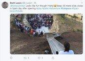 38m 길이 미끄럼틀…하루만에 이용 금지된 이유
