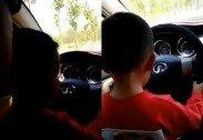 3세 아이 무릎에 앉히고 운전시킨 부모 '비난 봇물'