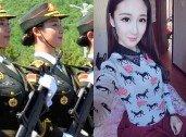 뛰어난 미모의 모델 출신 여군…中 열병식 참석 '눈길'