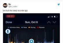 자신의 수면 기록 앱 저장 내용 공개한 남성 '큰 웃음!'