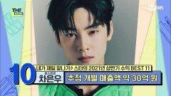 [86회] '얼굴만큼 완벽한 수익' 혼자 소속사 1분기 매출액의 44%를 하드캐리한 아스트로 차은우 | Mnet 210929 방송