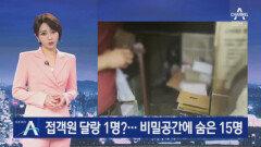 유흥업소 접객원은 달랑 1명?…비밀 공간에 숨은 15명