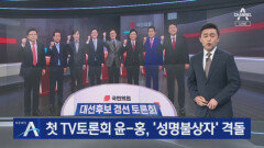국민의힘 첫 TV토론…윤석열·홍준표 '성명불상자' 격돌