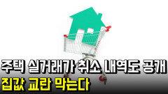주택 실거래가 취소 내역도 공개…집값 교란 막는다