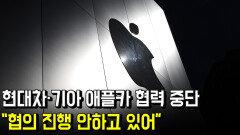 """현대차·기아 애플카 협력 중단… """"협의 진행 안하고 있어"""""""