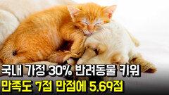 국내 가정 30% 반려동물 키워…만족도 7점 만점에 5.69점