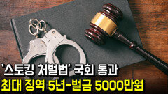 '스토킹 처벌법' 국회 통과…최대 징역 5년-벌금 5000만원
